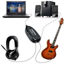 Cabo Guitar Link Interface Usb Áudio Guitarra Baixo Violão