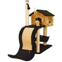 Arranhador Para Gato Casa Com Tobogã