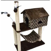 Arranhador Para Gato Casa Com Rede Girafa