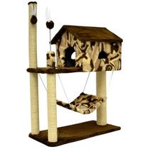 Arranhador Para Gato Casa Com Rede / House Casinha Cama