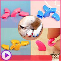 Capa Protetora Unha Cachorro - 20 Capas Silicone Coloridas