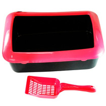 Caixa Higiênica Banheiro Gatos Areia Pegador Wetsern #pet-23