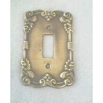Espelho Placa De Luz Em Metal Decorado 2 X 4