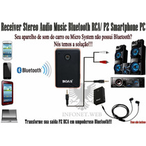 Transmissor Bluetooth Audio Stereo Plugue P2 3.5 Mm