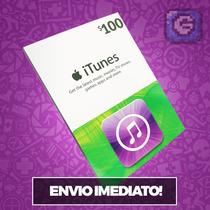Itunes Gift Card $100 - Cartão Itunes Usa - Preço Imbativel!