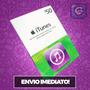 Itunes Gift Card $50 - Cartão Itunes Usa - Preço Imbativel!!