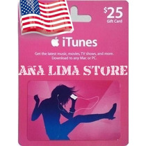 Itunes Gift Card $25 - Cartão Itunes Usa - Iphone Ipad Ipod!