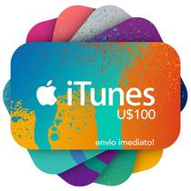 Itunes Gift Card $100 - Cartão Itunes Usa - Envio Imediato!