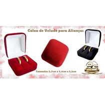 Caixa Caixinha De Veludo P/ Alianças - Anéis - Porta Joia