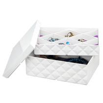 Caixa Porta Jóias E Bijuterias Com Tampa - Prático E Moderno
