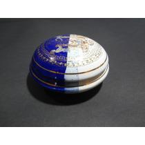 Porta Joias Grego - Ouro 24k - Pintado A Mão- Porcelana