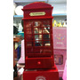 Miniatura Porta Joias Musical Cabine Telefone Londres