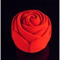 Caixa Caixinha De Veludo Em Rosa Para 1 Aliança Anel