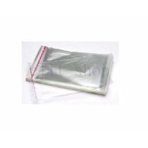 100 Saquinhos Adesivos 05 X 08cm - Transparente Semi Brilho