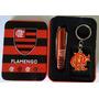 Chaveiro + Canivete Time Flamengo Rubro Negro Presente