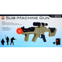 Arma Sub-machine Gun Ps3 Play Station Move Novo
