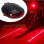 Lanterna Bike Traseira - Ciclovia Virtual Led Laser