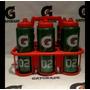 Kit 6 Squeezes Gatorade + Suporte
