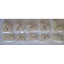 500 Un Unhas Tips P/ Acrigel Porcelana Gel Nail Brancas