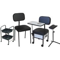 Kit Manicure Completo: Cadeira+ Cirandinha+ Carrinho+ Tripe