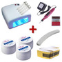 Kit Unha Acrigel Cabine Uv + Lixas + 3 X Gel Uv + 100 Moldes