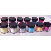 Nail Art - Glitter (hexágono) P/ Unhas - 12 Cores A Escolher