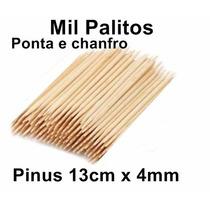 Palito De Unhas Para Manicure 1000 Unidades Ponta E Chanfro