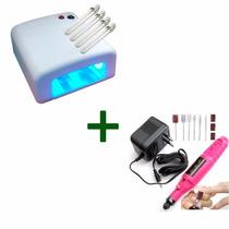 Cabine Estufa Uv Maquina Secar Uhha Gel Acry + Lixa Elétrica