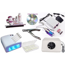 Kit Unhas Gel Dvd Aspirador + Cabine +300 Tips+ Lixa+alicate