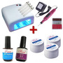 Kit Cabine Uv + Lixa Eletrica + 3 Gel Uv + Top Coat + Primer