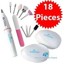 18 Peças Kit Completo Lixa Eletrica Manicure Pedicure