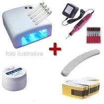 Kit Unha Gel Acrygel + Cabine + Lixa + Fibra De Vidro !!
