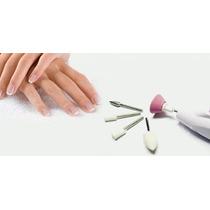 3 Lixas Unha Elétrica Manicure Profissional Sem Fio Pedicure