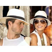 Chapéu Estilo Panamá Modelo Social Clásico ( Unisex )