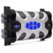 Mega Capacitor 35 Farad Som Automotivo 35.000w C/ Voltimetro