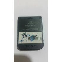 Memory Card Original Preto Final Fantasy Vll - 7 Ps1 Ps2
