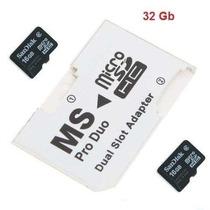 + Adaptador 32gb Memoria Psp 16gb + De 100 Jogos Brinde