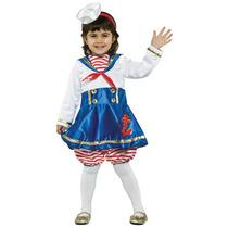 Fantasia Bebê Marinheira Importada G (3 A 4 Anos)