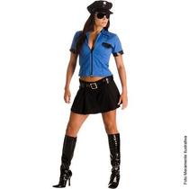 Fantasia Policial Blusa Saia Heat Girls Sul Tam. P (38 A 40)