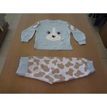 Pijama Cara De Criança Blusa Meia Malha + Calça. Tam: M,g,gg
