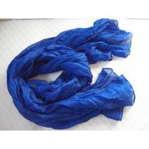 Echarpe Lenço Cachecol Echarpe Azul Safira Ou Turquesa