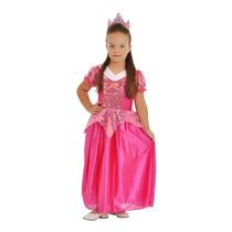 Fantasia Princesa Bela Adormecida Aurora Infantil Completa