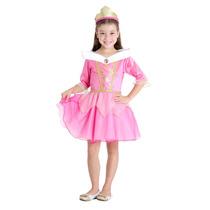 Fantasia Bela Adormecida Luxo Infantil Verão Princesa Aurora