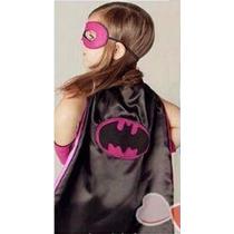 Capa Super Herói Com Máscara - Fantasia - Unissex