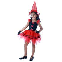 Fantasia Bruxa Fashion M (6 A 8 Anos)