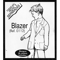 Molde De Costura Blazer Infantil 02/04/06/08 Ref.0112