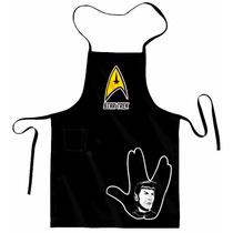 Avental Churrasqueiro + Bandana Star Trek - Spock - Hand Sig
