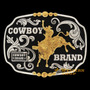 Fivela Montaria Em Touro C/ Fundo Negro - Cowboy Brand - Úni