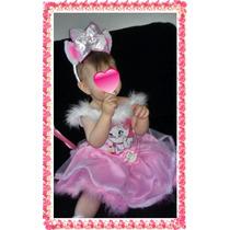 Fantasia Gata Marie -roupa Gata Marie -vestido Gata Marie -g