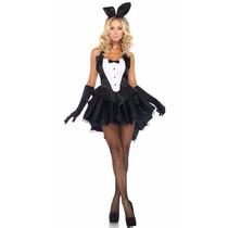 Fantasia Coelhinha Playboy Com Acessórios - Carnaval